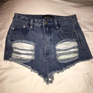 Mink pink high waisted shorts size sml